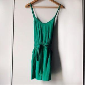 Aritzia Wilfred Peri 100% silk shorts romper small